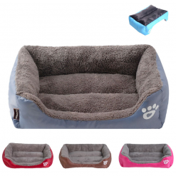 S-3XL Pet Sofa With Waterproof Bottom And Soft Fleece In 9 Colors