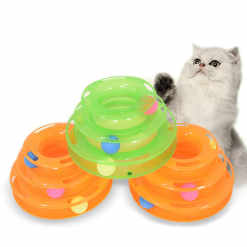 Three Levels Track Tower Cat Toy